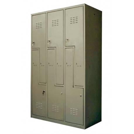VESTIAR CU 6 USI IN Z 1150x450x1800H mm